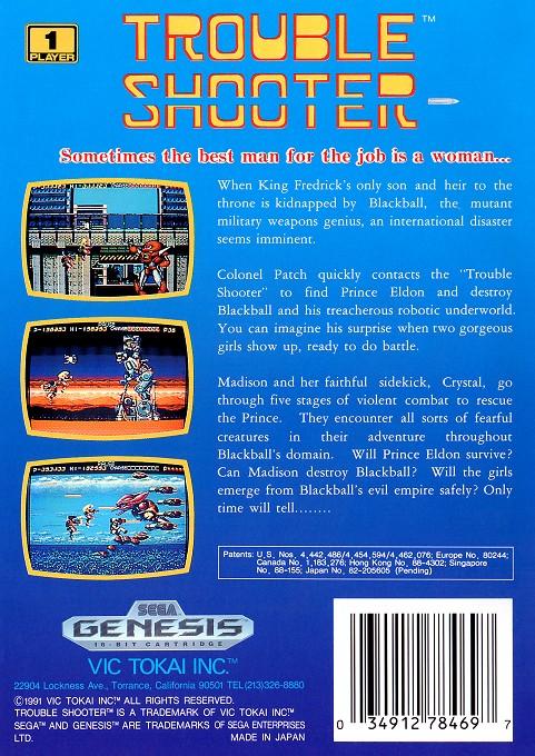Back boxart of the game Battle Mania (United States) on Sega Megadrive