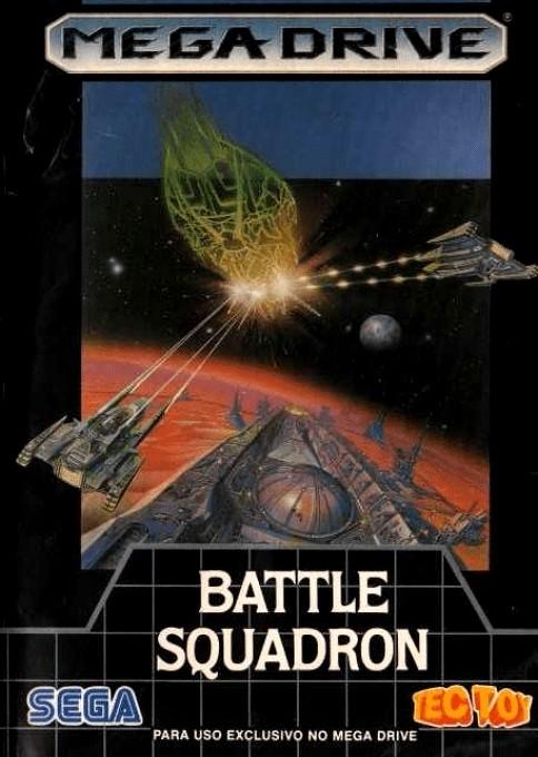 Front boxart of the game Battle Squadron (Brazil) on Sega Megadrive