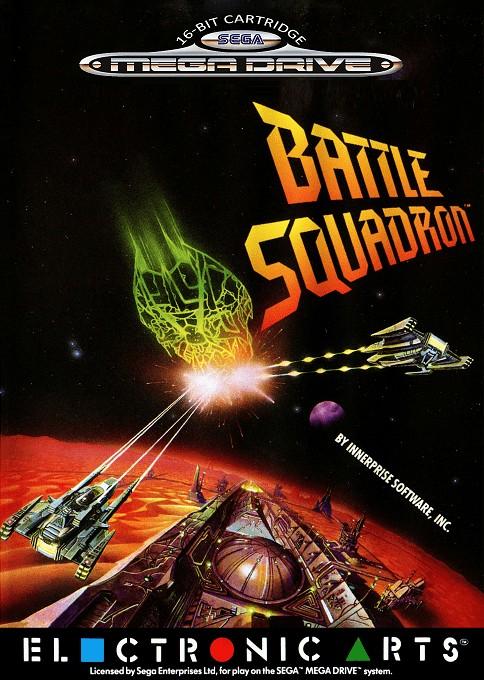 Front boxart of the game Battle Squadron (Europe) on Sega Megadrive