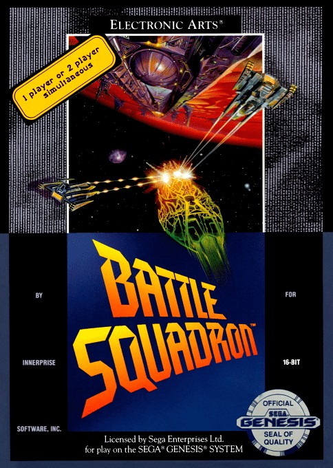 Front boxart of the game Battle Squadron (United States) on Sega Megadrive