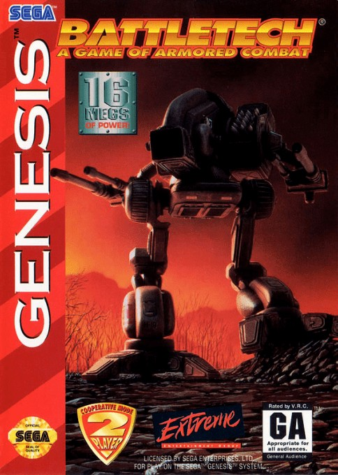 Front boxart of the game Battletech (United States) on Sega Megadrive
