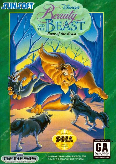Front boxart of the game Beauty and the Beast - Roar of the Beast (United States) on Sega Megadrive