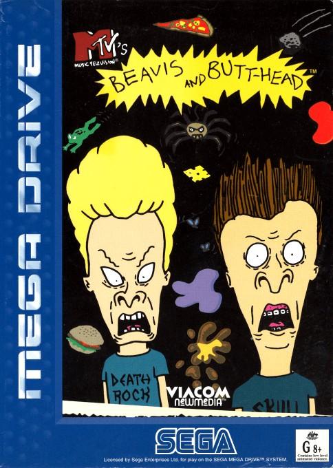 Front boxart of the game Beavis and Butt-head (Australia) on Sega Megadrive