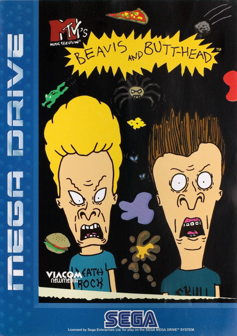 Front boxart of the game Beavis and Butt-head (Europe) on Sega Megadrive
