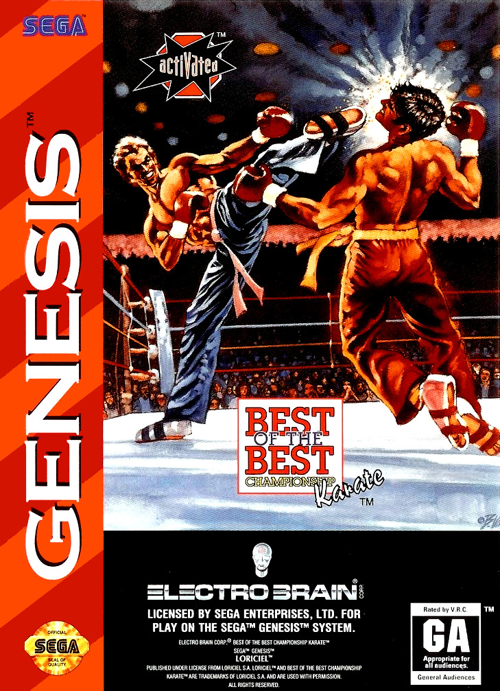 Front boxart of the game Best of the Best - Championship Karate (United States) on Sega Megadrive