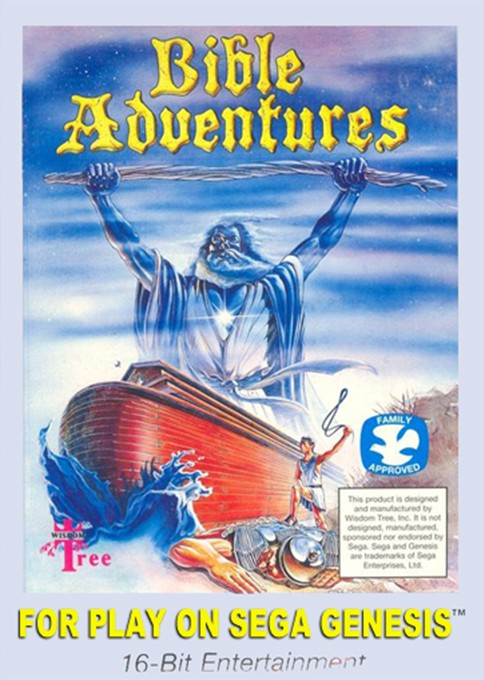 Front boxart of the game Bible Adventures (United States) on Sega Megadrive