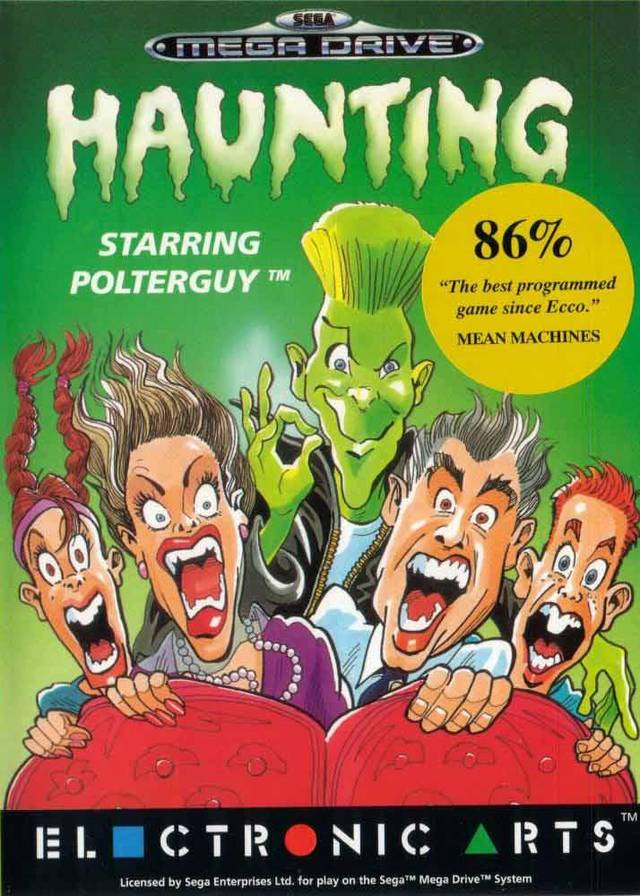 Front boxart of the game Haunting Starring Polterguy (Europe) on Sega Megadrive
