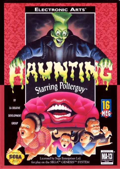 Front boxart of the game Haunting Starring Polterguy (United States) on Sega Megadrive