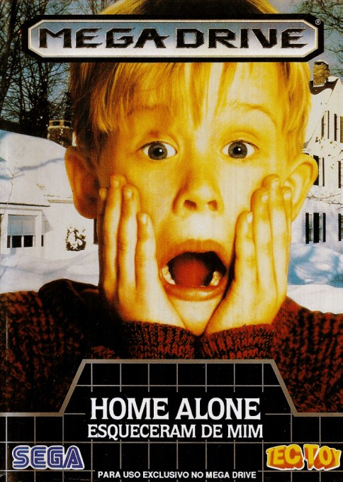 Front boxart of the game Home Alone (Brazil) on Sega Megadrive