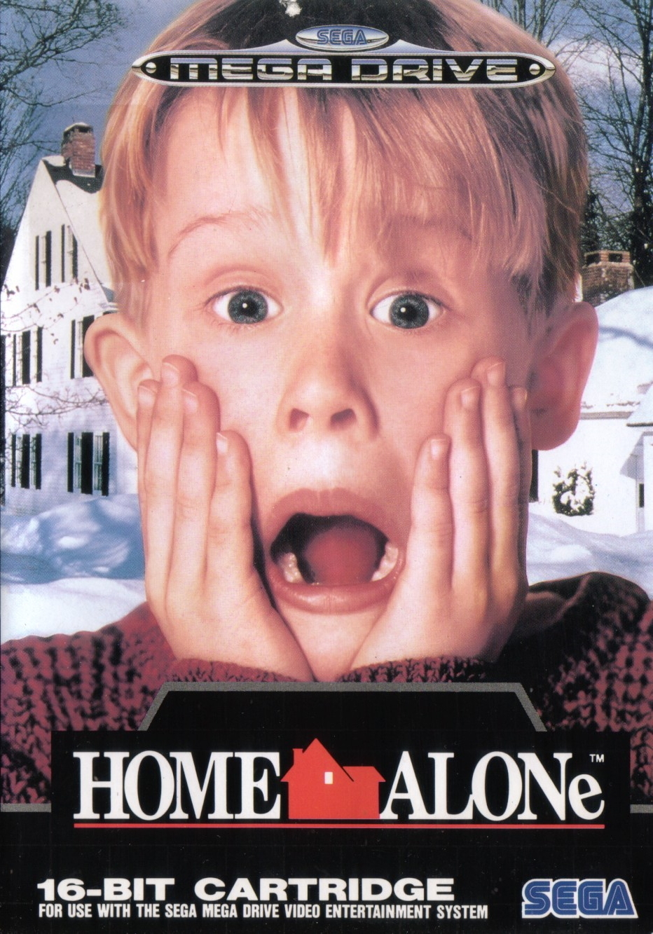 Front boxart of the game Home Alone (Europe) on Sega Megadrive