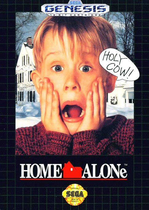 Front boxart of the game Home Alone (United States) on Sega Megadrive