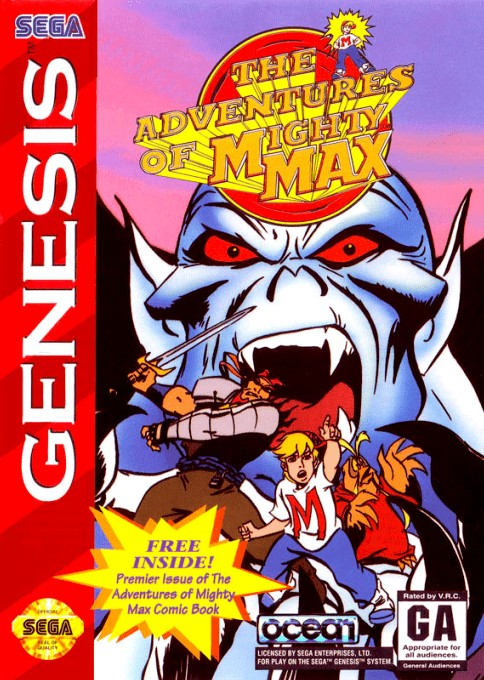 Front boxart of the game Adventures of Mighty Max, The (United States) on Sega Megadrive