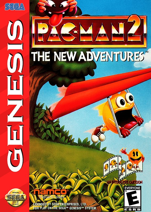 Front boxart of the game Pac-Man 2 - The New Adventures (United States) on Sega Megadrive