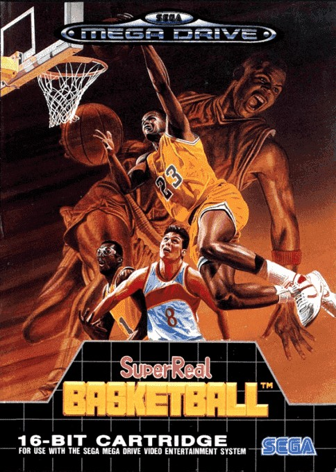 Front boxart of the game Pat Riley Basketball (Europe) on Sega Megadrive