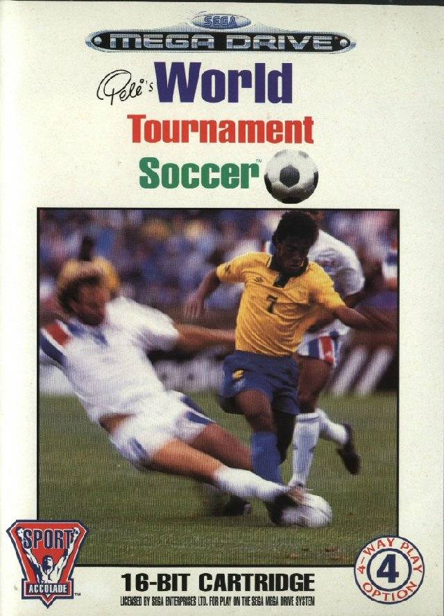 Front boxart of the game Pele's World Tournament Soccer (Europe) on Sega Megadrive