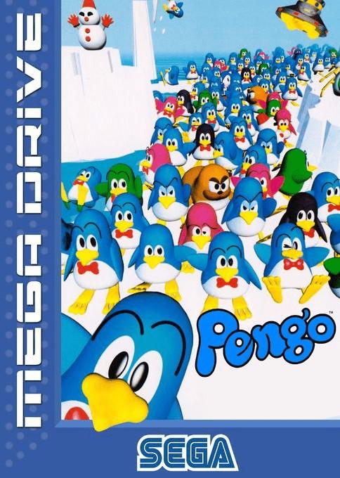 Front boxart of the game Pengo (Europe) on Sega Megadrive