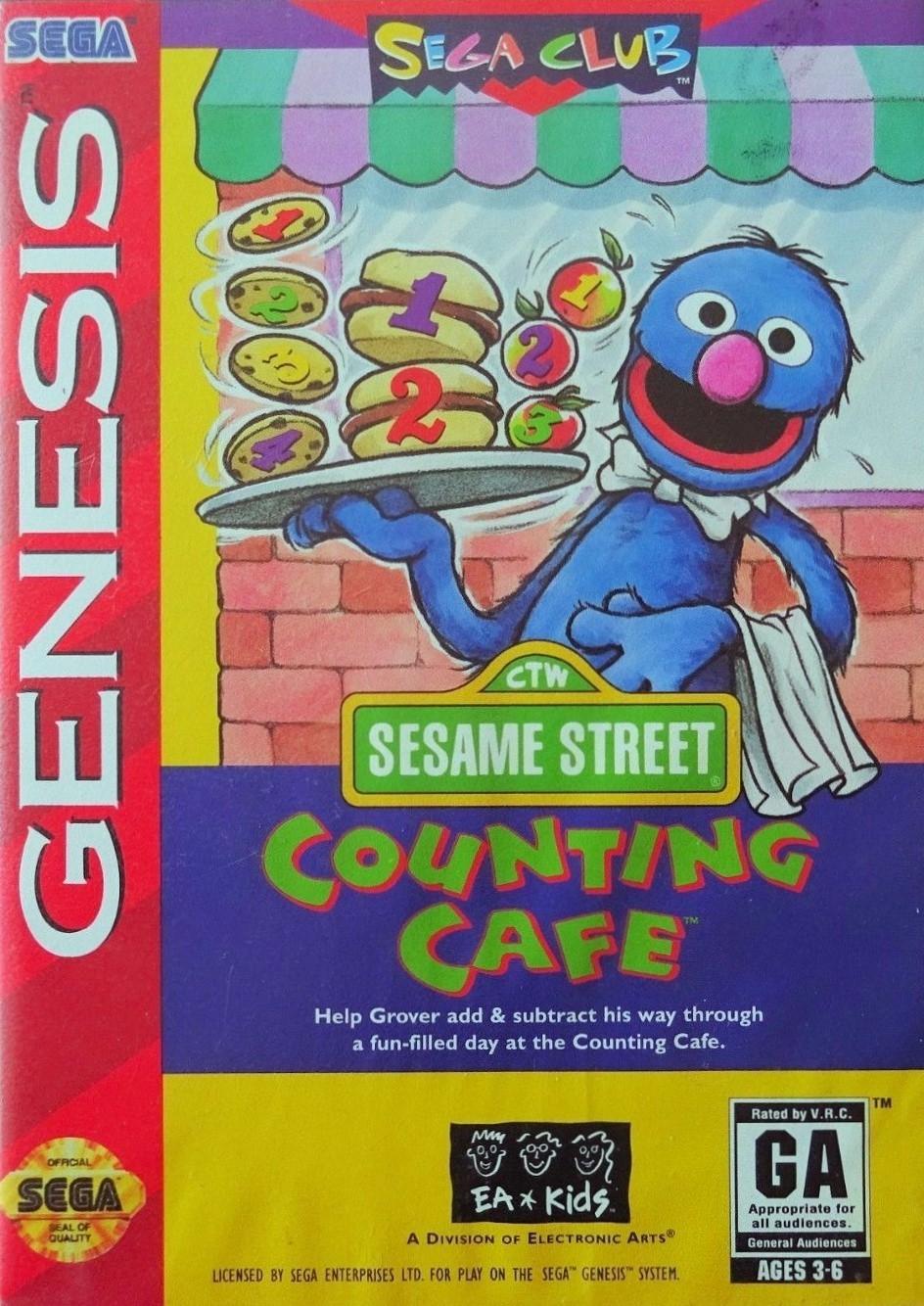 Sesame Street Counting Cafe for Sega Megadrive - The Video