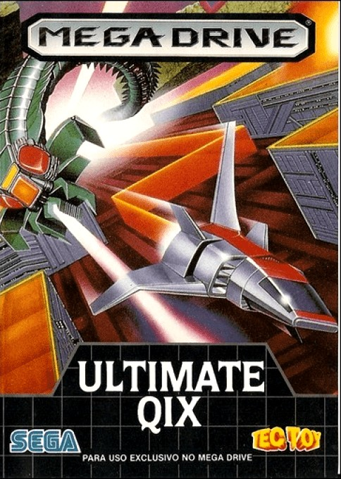 Front boxart of the game Ultimate Qix (Brazil) on Sega Megadrive