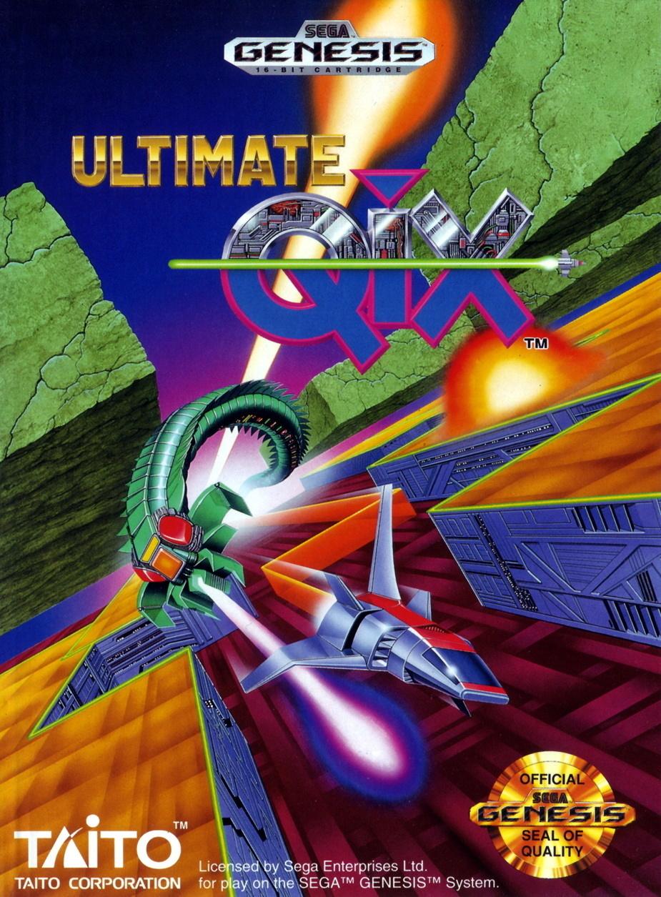 Front boxart of the game Ultimate Qix (United States) on Sega Megadrive