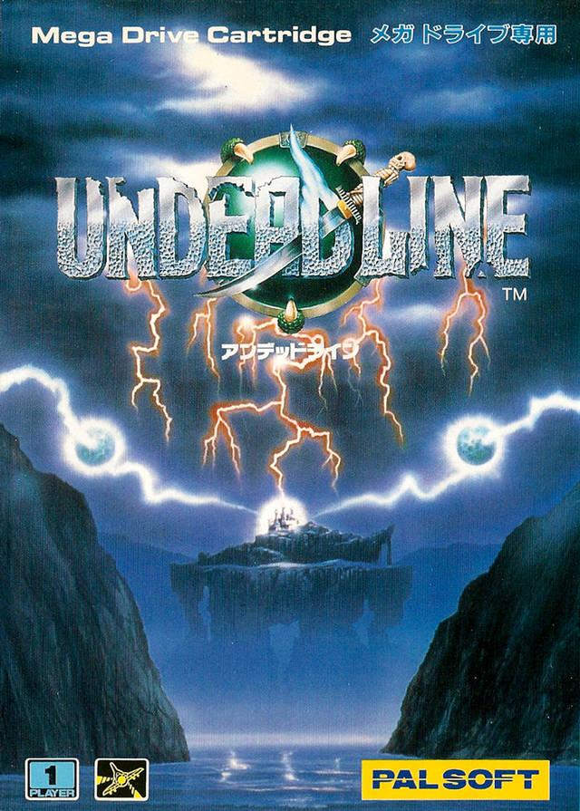 Front boxart of the game Undead Line (Japan) on Sega Megadrive