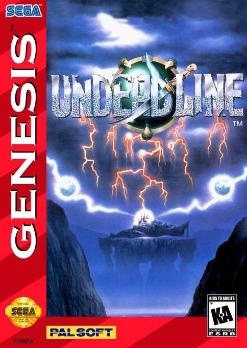 Front boxart of the game Undead Line (United States) on Sega Megadrive