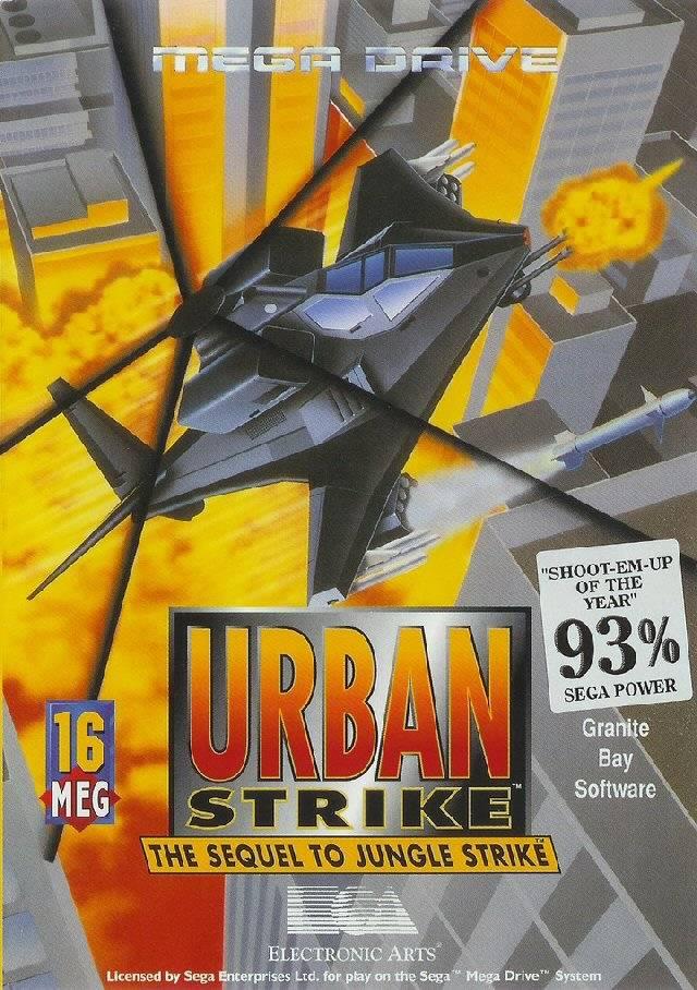 Front boxart of the game Urban Strike (Europe) on Sega Megadrive