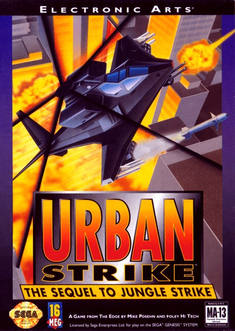 Front boxart of the game Urban Strike (United States) on Sega Megadrive