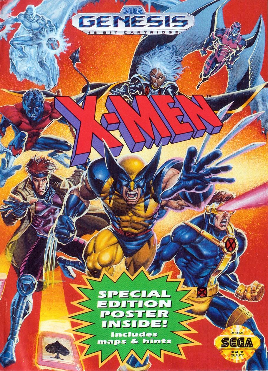 Front boxart of the game X-Men (United States) on Sega Megadrive