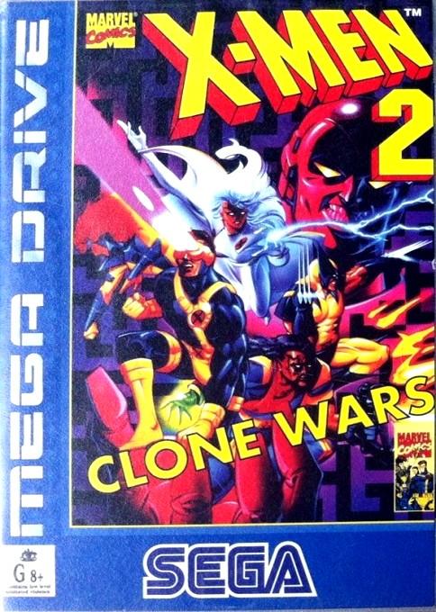 Front boxart of the game X-Men 2 - Clone Wars (Australia) on Sega Megadrive
