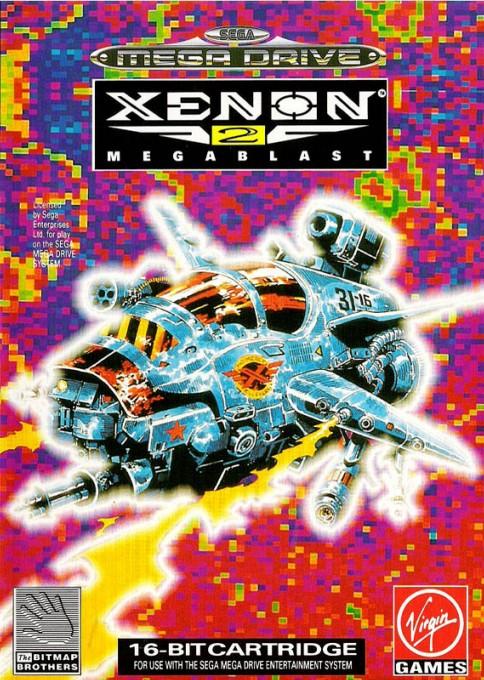 Front boxart of the game Xenon 2 - Megablast (Europe) on Sega Megadrive