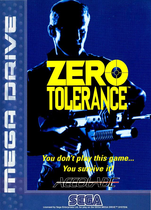 Front boxart of the game Zero Tolerance (Europe) on Sega Megadrive