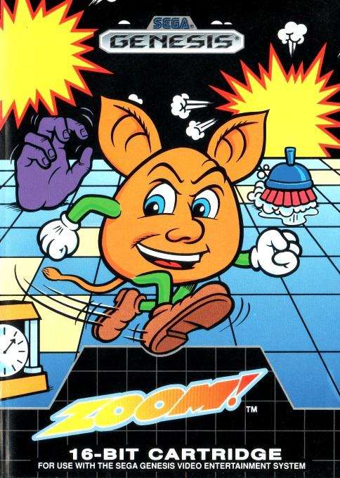 Front boxart of the game Zoom! (United States) on Sega Megadrive