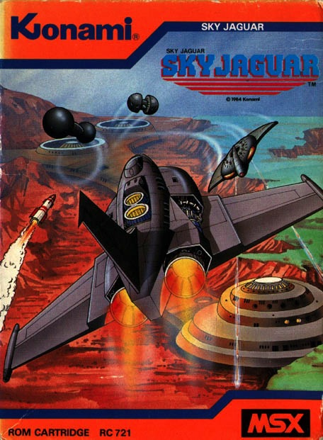 Front boxart of the game Sky Jaguar on MSX