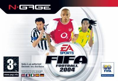 Front boxart of the game FIFA Football 2004 (Europe) on Nokia N-Gage