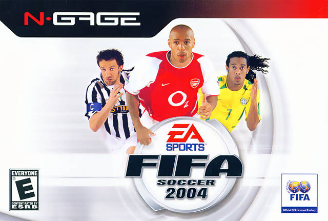 Front boxart of the game FIFA Football 2004 (United States) on Nokia N-Gage