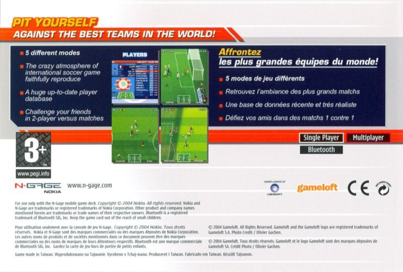 Back boxart of the game Marcel Desailly Pro Soccer (Europe) on Nokia N-Gage
