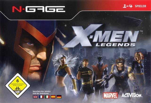Front boxart of the game X-Men Legends (Europe) on Nokia N-Gage