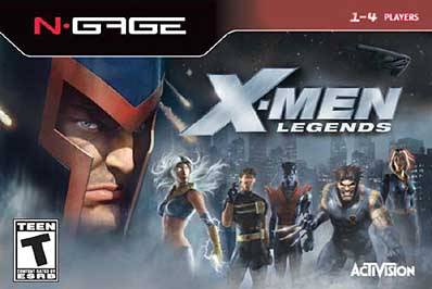 Front boxart of the game X-Men Legends (United States) on Nokia N-Gage