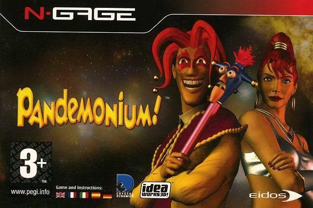 Front boxart of the game Pandemonium! (Europe) on Nokia N-Gage