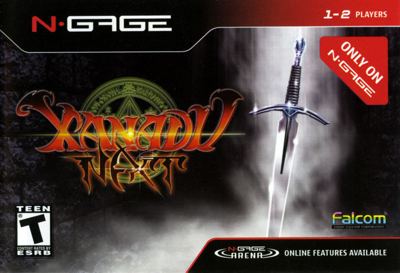 Front boxart of the game Xanadu Next (United States) on Nokia N-Gage