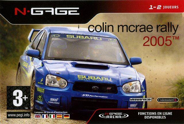 Front boxart of the game Colin McRae Rally 2005 (Europe) on Nokia N-Gage