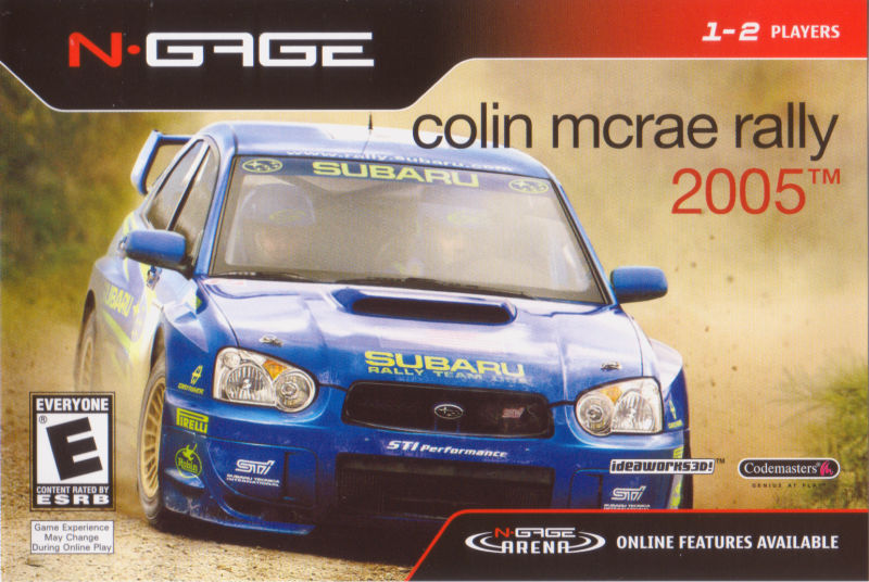 Front boxart of the game Colin McRae Rally 2005 (United States) on Nokia N-Gage