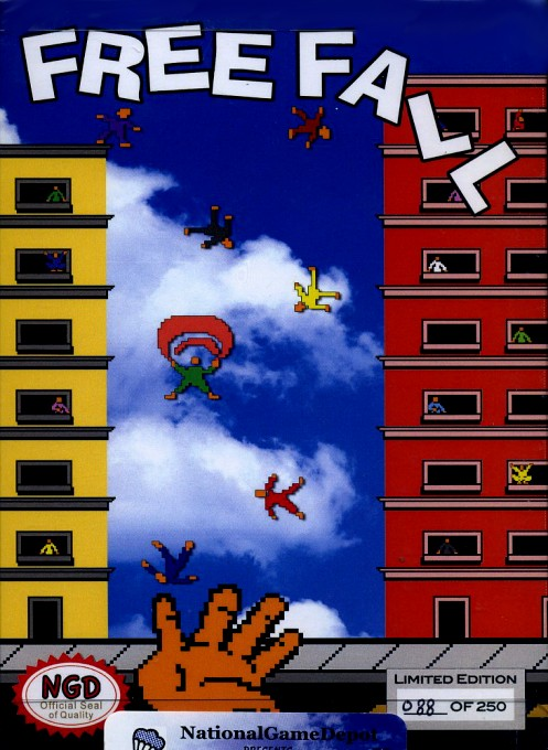 Front boxart of the game Free Fall on Nintendo NES