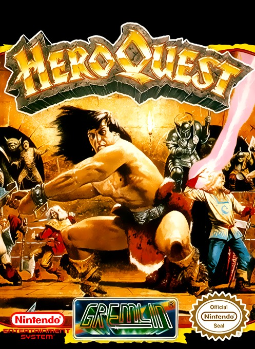 Front boxart of the game Hero Quest on Nintendo NES