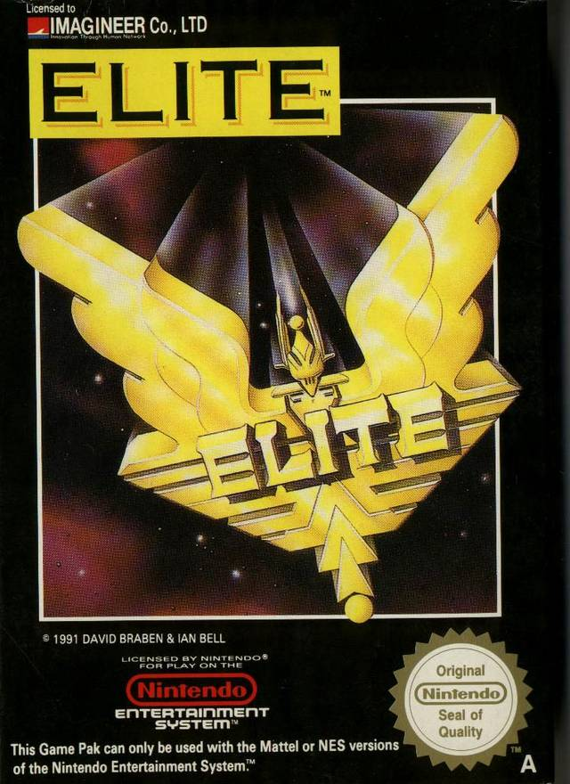 Front boxart of the game Elite (Europe) on Nintendo NES