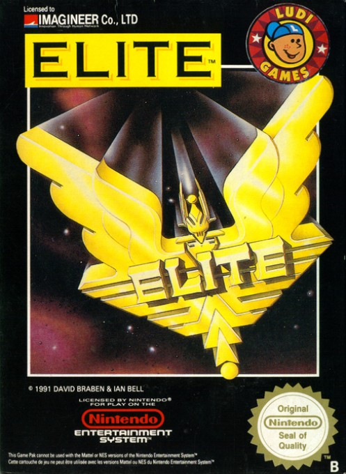 Front boxart of the game Elite (France) on Nintendo NES
