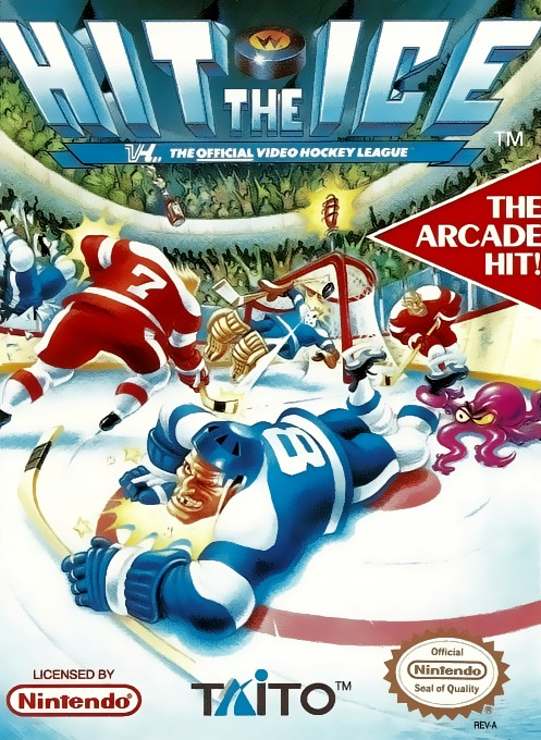 Front boxart of the game Hit the Ice on Nintendo NES