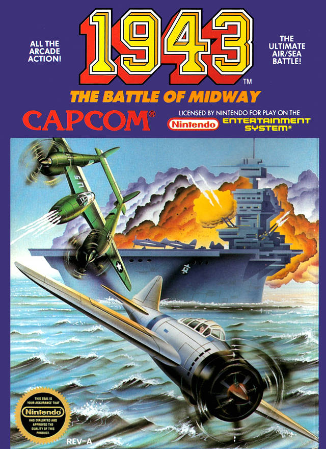 Front boxart of the game 1943 - The Battle of Midway (United States) on Nintendo NES