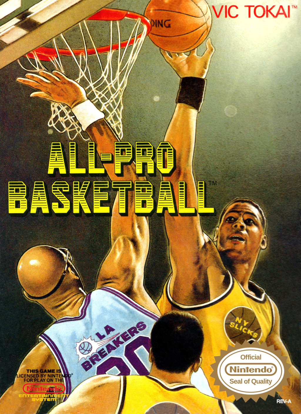 Front boxart of the game All-Pro Basketball (United States) on Nintendo NES