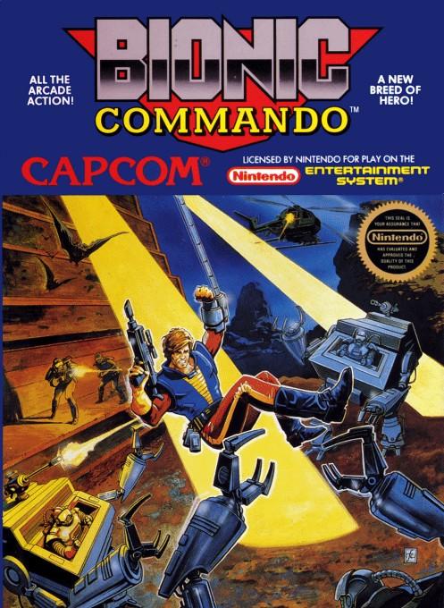 Front boxart of the game Bionic Commando (United States) on Nintendo NES